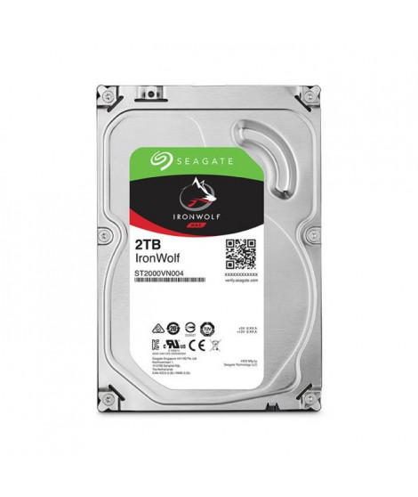 """Seagate NAS HDD Iron Wolf 2To 3,5"""""""