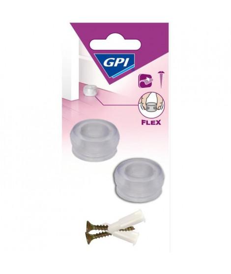 GPI Butée de porte Sol Petit modele élastique - Transparent