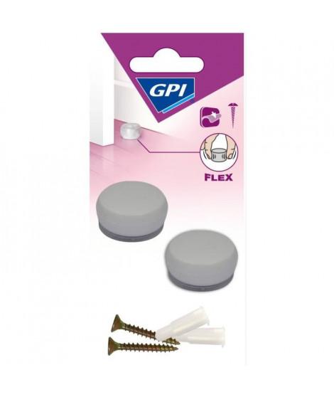 GPI Butée de porte Sol Petit modele élastique - Blanc