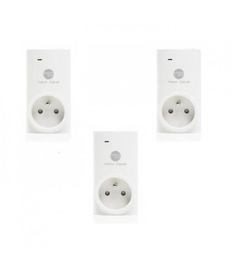 NEW DEAL Pack de 3 prises connectées SPECO+ FR WiFi contrôlable a distance