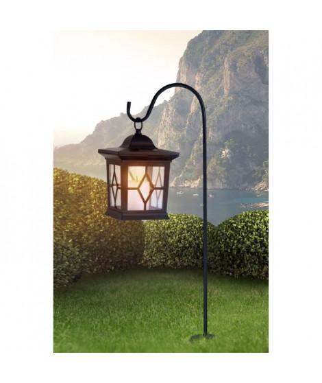 Globo Lighting Lanterne solaire noir - Plastique noir - Plastique translucide - IP44