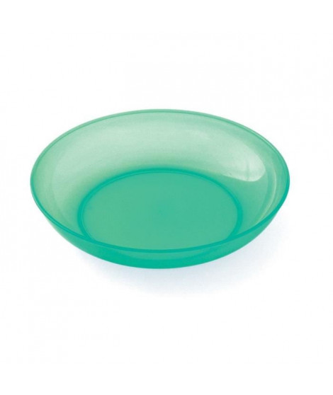 PLASTOREX Assiette micro-ondable Polypropylene 18,5 CM Vert menthe translucide
