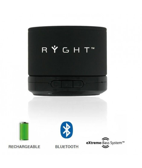 RYGHT Y-Storm Enceinte sans-fil bluetooth noir
