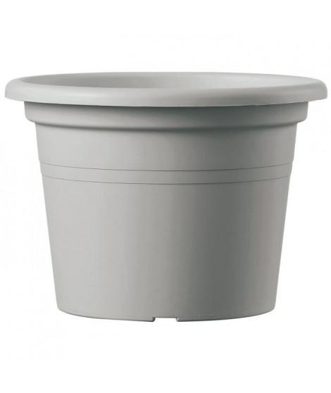 DEROMA Pot Farnesse - 69 L - Ø 60 x h 41,8 cm - Gris écume