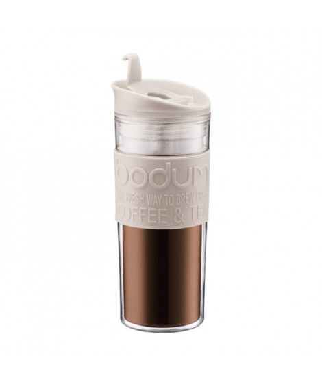 BODUM Mug de voyage Travel Press 0,45 L blanc creme