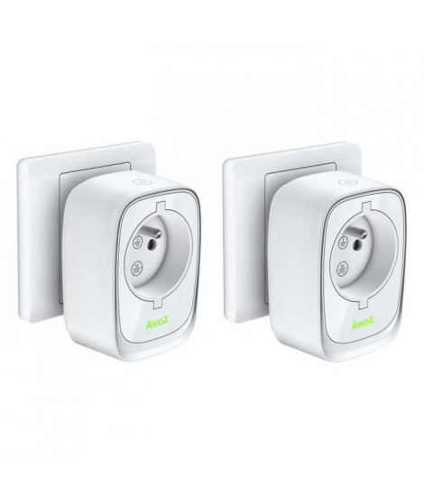 AWOX Lot de 2 prises connectées bluetooth SmartPLUG