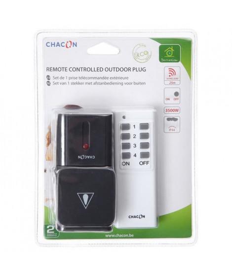CHACON Kit 1 prise extérieure télécommandée avec télécommande