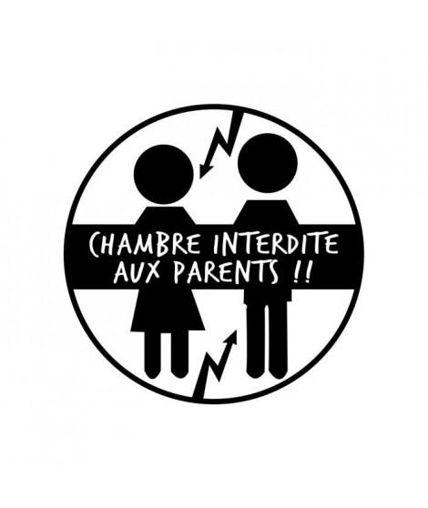 Stickers adhésif mural Chambre interdite aux parents - 30x30cm