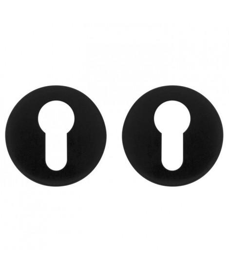 ALPERTEC Ensemble de 2 rosaces de fonction - En aluminium noir - Cylindre