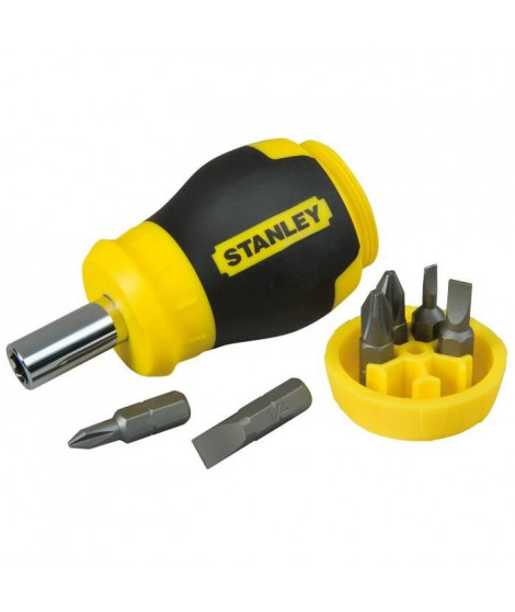 STANLEY Tournevis porte-embouts boule + 6 embouts