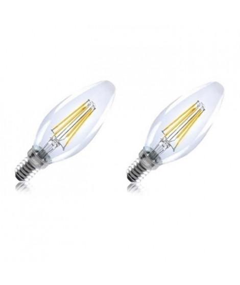 INTEGRAL LED Lot de 2 ampoules flamme E14 filament 4 W équivalent a 36 W 2700 K 420 lm