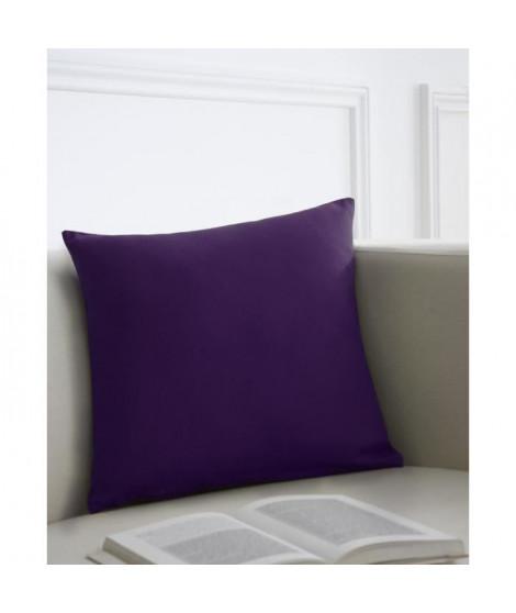Coussin décoratif 40x40 cm 100% coton Deep purple