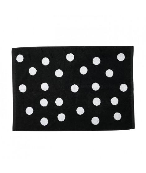 DONE Daily Shapes DOTS Tapis de bain  50x70cm - Noir et Blanc