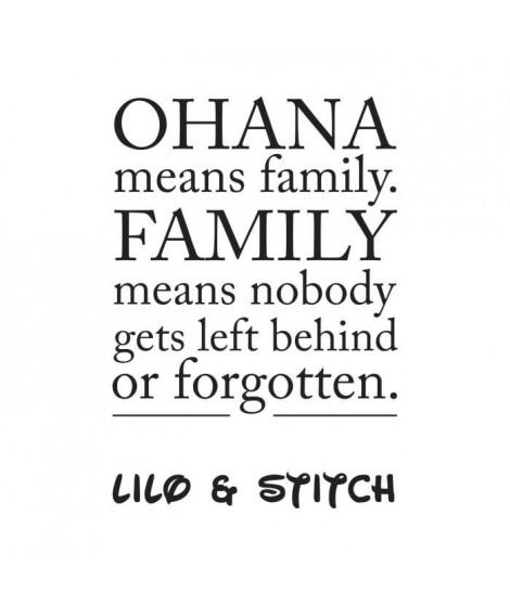 Stickers adhésif mural Ohana means family - 30x43cm