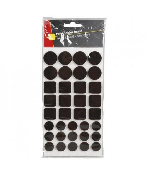 COGEX Patin adhesif feutre marron - 105 pcs