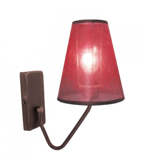 Applique murale TRIPOLI Marron-Rouge E14 40W
