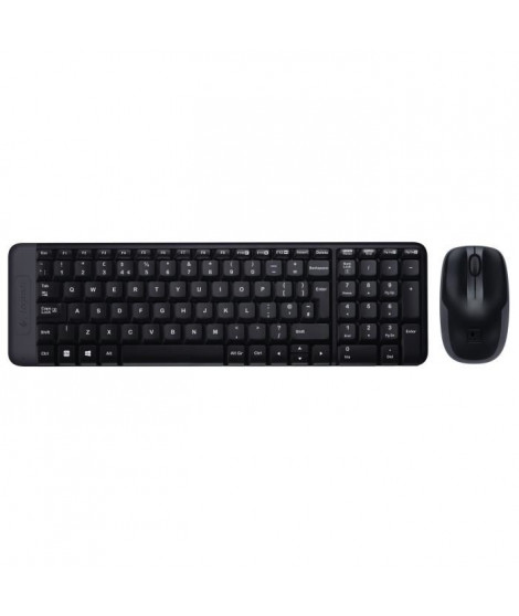LOGITECH Ensemble Clavier Souris MK220 - AZERTY - Sans Fil