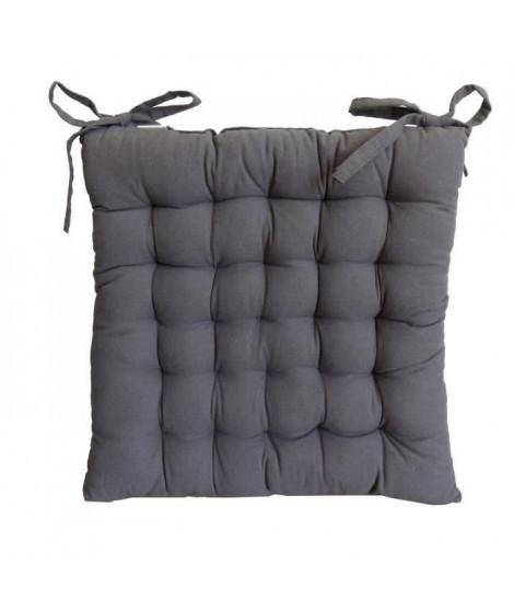 Galette de chaise 40x40x4 cm Gris antrhracite
