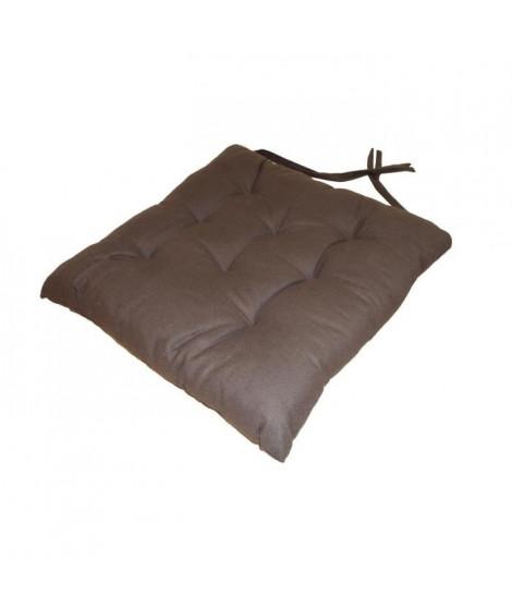 Galette de chaise 8pts 40x40x4 cm  Chocolat