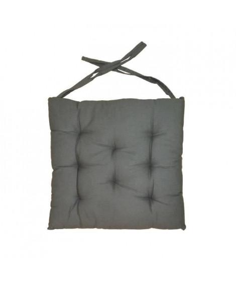 Galette de chaise 8pts 40x40x4 cm  Gris