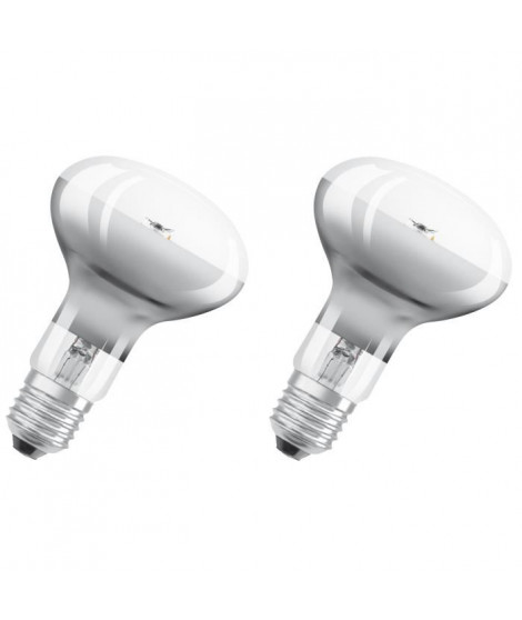 OSRAM Lot de 2 Ampoules Spot LED R80 E27 7 W équivalent a 46 W blanc chaud dimmable