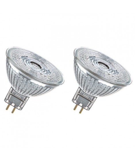 OSRAM Lot de 2 Ampoules spot LED MR16 GU5,3 3 W équivalent a 20 W blanc froid dimmable