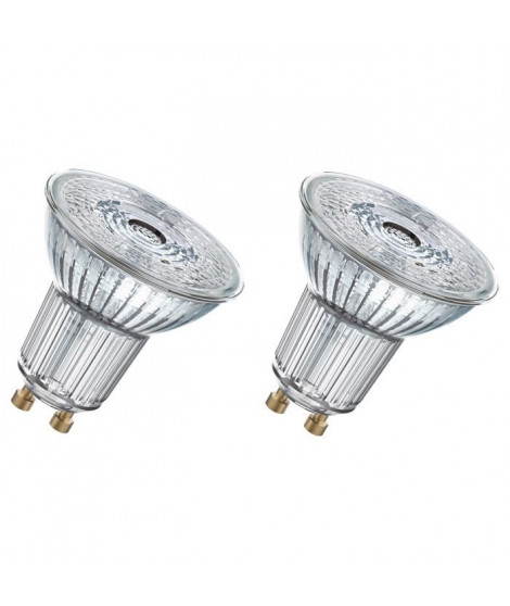 OSRAM Lot de 2 Ampoules spot LED PAR16 GU10 7,2 W équivalent a 80 W blanc froid dimmable
