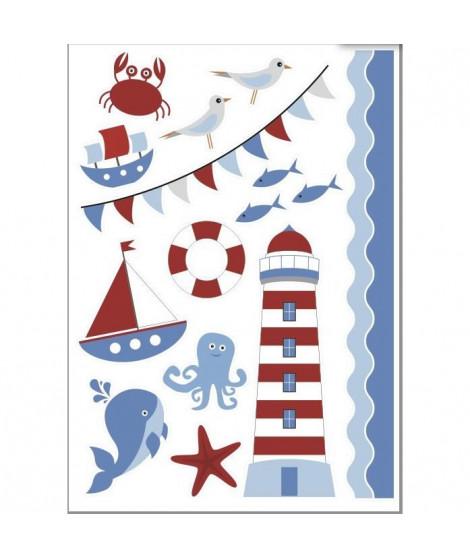 PLAGE Sticker déco - Mer enfant1 Planche 48 x 68 cm