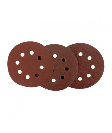 Assortiment de 12 disques abrasifs - Grain 40, 80 & 120 - Ø 125 mm