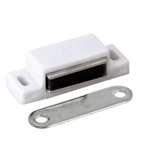 Lot de 2 loqueteaux magnétiques - Blanc