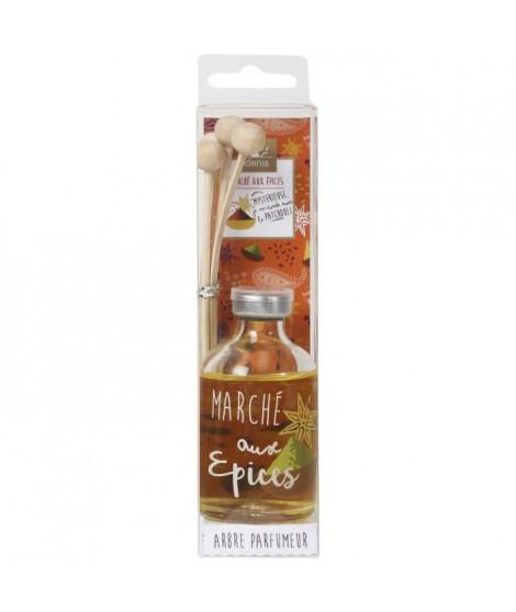 LE CHAT Diffuseur a froid Marché aux épices - 50 ml - Parfum : patchouli - Couleur : orange