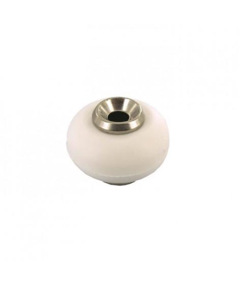 Butée de porte a visser - Ø 30 mm / H 22 mm - Blanc