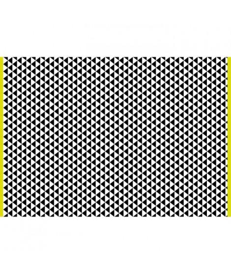 Tapis d'extérieur Verona - En polypropylene recyclé - 120 x 180 cm - Noir et blanc