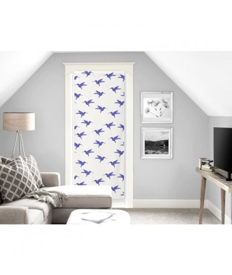 SOLEIL D'OCRE Paire de brise bise Colibri - 70x200 cm - Bleu
