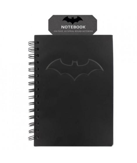 Cahier noir mat DC Comics: Logo Batman en relief