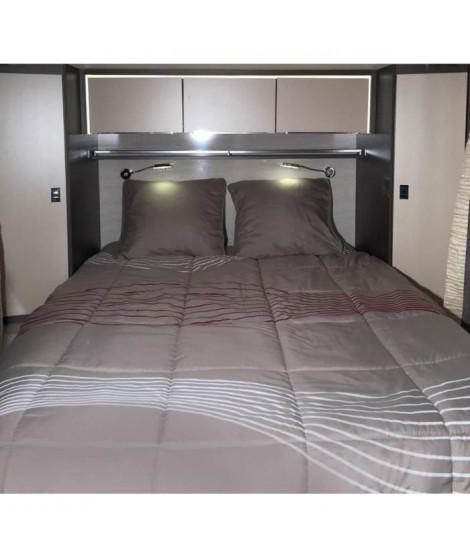 MIDLAND Pret-a-Dormir 130x190 cm Coupe a Droite - Linge de lit camping-car