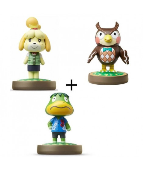 Pack de 3 Amiibos Animal Crossing : Thibou + Marie + Amiral