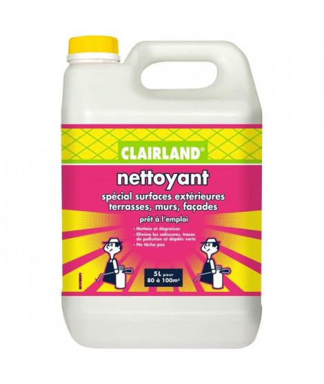 CLAIRLAND Nettoyant spécial surfaces extérieures terrasses, murs et façades - Solution prete a l'emploi pour pulvérisateur - 5 L