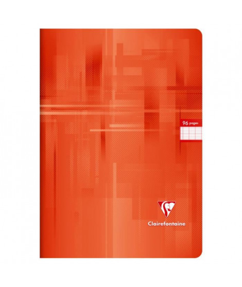 CLAIREFONTAINE Cahier piqûre - 96 pages - 21 x 29,7 cm - 90 g - Rouge