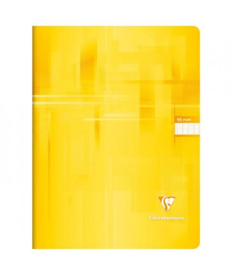 CLAIREFONTAINE Cahier piqûre - 96 pages - 24 x 32 cm - 90 g - Jaune