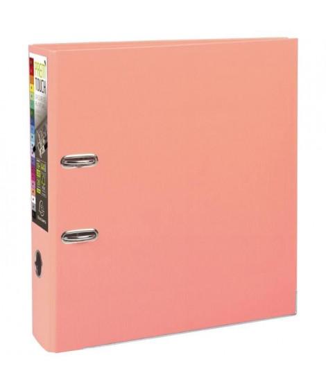 EXACOMPTA Classeur a levier - 24,2 x 29,7 cm - Polypropylene - Rose saumon