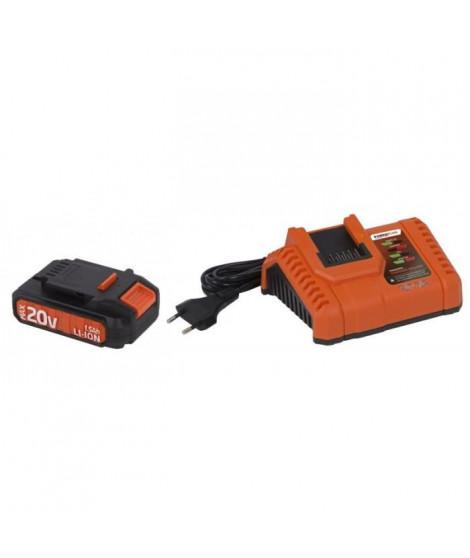 POWERPLUS Chargeur 20 / 40V avec batterie 20V - Compatible DUALPOWER