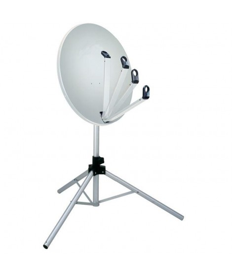 Kit antenne satellite trépied LNB boussole & câble