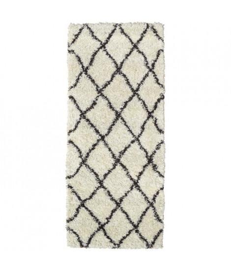 ASMA Tapis de couloir Shaggy Berbere - 100% polypropylene - 67x180 cm - Blanc creme