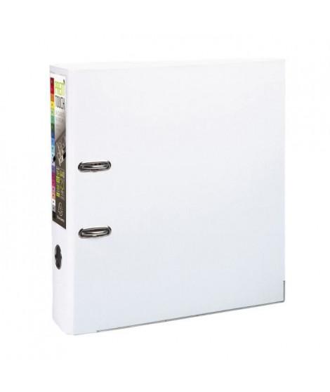EXACOMPTA Classeur a levier - 24,2 x 29,7 cm - Polypropylene - Blanc