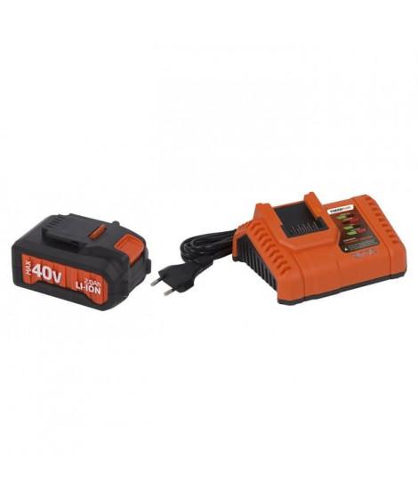 POWERPLUS Chargeur 20V/40V avec batterie 40V - Compatible POWDP / POWDPG