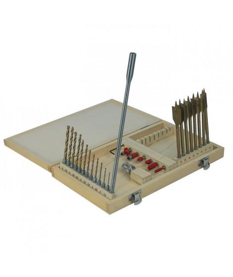 MANNESMANN Coffret de foret a bois et métal - 28 pieces