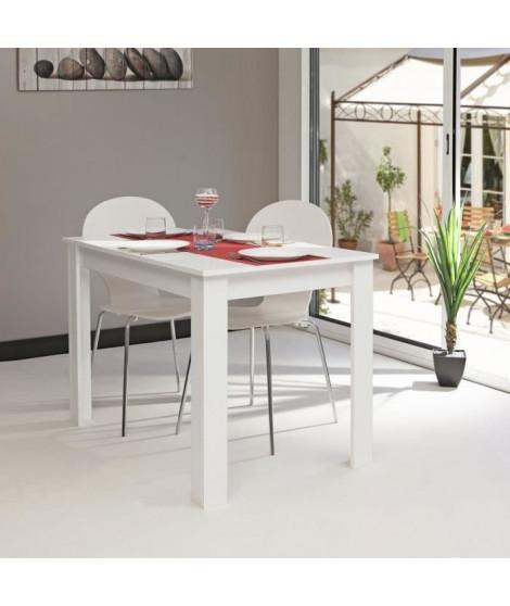 PEPPER Table a manger 4 a 6 personnes style contemporain mélaminée blanc - L 110 x l 70 cm