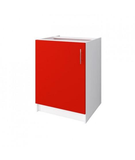 OBI Meuble bas de cuisine L 60 cm - Rouge mat