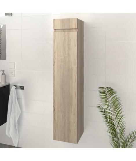 LUNA / LIMA Colonne de salle de bain L 25 cm - Décor chene sonoma